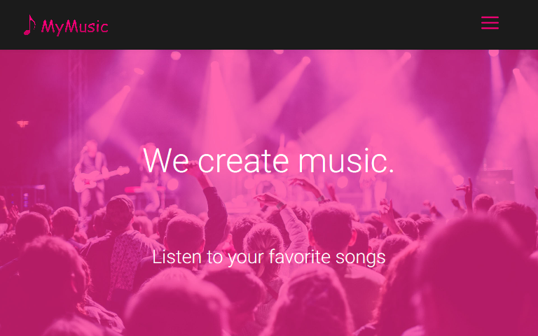 MyMusic WYSIWYG Web Builder 14 Template